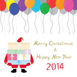 MC and HNY 3. Card for Merry Christmas and Happy New Year Stock Photography