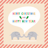 MC and HNY greeting card11 Stock Photos