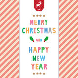 MC and HNY greeting card8 Stock Image