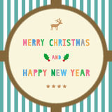 MC and HNY greeting card16 Stock Photography