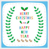 MC and HNY greeting card17 Royalty Free Stock Photography
