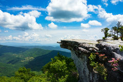 McAfee Knob. The McAfee Knob in Virginia on a beautiful sunny day Royalty Free Stock Images
