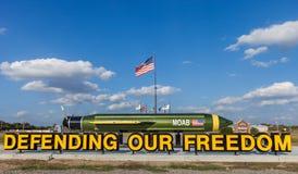 "McALESTER,俄克拉何马,美国- 2017年10月13日-,也称Massive Ordnance气喷净法的所有bombs†默阿布""mother 免版税库存图片"