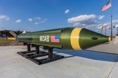 """McALESTER, OKLAHOMA, VERENIGDE STATEN - OKTOBER 13, 2017 - """"mother van al bombs† MOAB, riep ook Massieve Artillerielucht Bla Stock Foto's"""