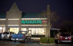McAlister-` s Feinkostgeschäft nachts, Memphis, TN Stockfoto
