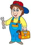Mécanicien de dessin animé Images stock