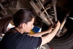 Mécanicien de femme Photos stock