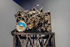 Mécanisme d'horloge de vintage Images libres de droits