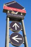 McArthurGlen Designer Outlet Roermond signpost royalty free stock image