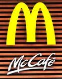 Mccafe de Mcdonald Imágenes de archivo libres de regalías