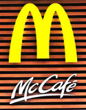 Mccafe de Mcdonald Images libres de droits