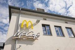 Mccafe de Mcdonald Photographie stock