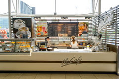 McCafe wnętrze Fotografia Royalty Free