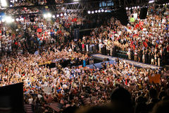 McCain and Crowd in Dayton, Ohio Royalty Free Stock Photography