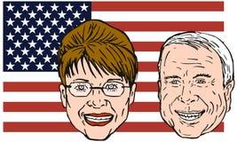 Mccain en Sarah Palin Royalty-vrije Stock Fotografie