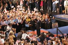 McCain introduce Palin como VP en Dayton Ohio fotos de archivo