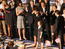 McCain introduceert Palin als VP in Dayton Ohio Stock Fotografie