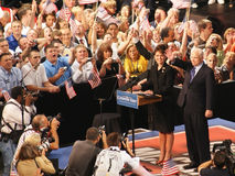 McCain Introduces Palin as Vice President Pick. Republican Presidential candidate John McCain introduces his Vice President pick, Sarah Palin, in Dayton, Ohio at Royalty Free Stock Photography