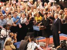 McCain introduz Palin como o vice-presidente Escolha Fotografia de Stock Royalty Free