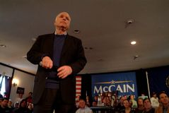 McCain Listens royalty free stock photos