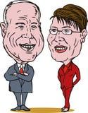 McCain and Palin Royalty Free Stock Photography