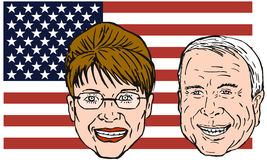 Mccain and Sarah Palin Royalty Free Stock Photography