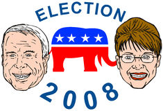 McCain and Sarah Palin Royalty Free Stock Photos
