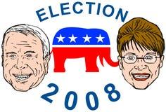 McCain and Sarah Palin Royalty Free Stock Photos