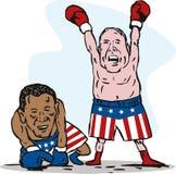 McCain winning over Obama Stock Photos