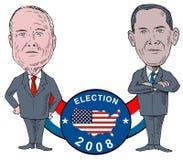 McCain y Obama Fotografía de archivo