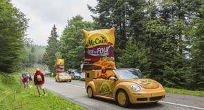 McCaincaravan - Le-Ronde van Frankrijk 2014 Stock Foto