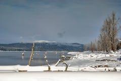 Free McCall Idaho Lake And Brundage Mountain Winter Royalty Free Stock Photos - 28423168