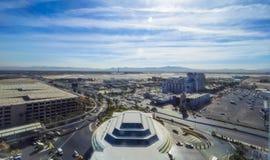 McCarran机场拉斯维加斯-鸟瞰图-拉斯维加斯-内华达- 2017年10月12日 免版税库存图片