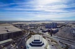 McCarran机场拉斯维加斯-鸟瞰图-拉斯维加斯-内华达- 2017年10月12日 免版税图库摄影