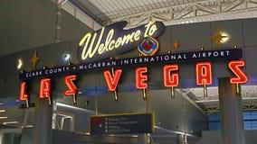 McCarran lotnisko międzynarodowe LAS Obraz Royalty Free