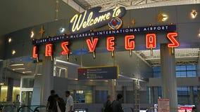 McCarran lotnisko międzynarodowe LAS Zdjęcie Stock