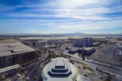 McCarran Lotniskowy Las Vegas 12, 2017 - widok z lotu ptaka - LAS VEGAS, NEVADA, PAŹDZIERNIK - fotografia royalty free