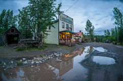 McCarthy, Alaska USA. Small wooden hotel in McCarthy town, Alaska USA Royalty Free Stock Images
