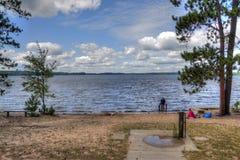 McCarthy stranddelstatspark i nordliga Minnesota royaltyfria bilder