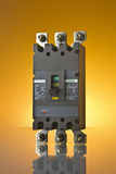 MCCB (Moulded Case Circuit Breaker). MCCBs are Moulded case Circuit breakers,with protection facilities of overcurrent, earth fault.it has a variable range of 50 Royalty Free Stock Photos