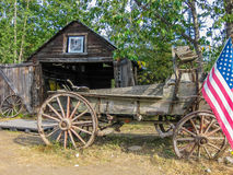 McCharthy, национальный парк Wrangell-St Ильи, Аляска Стоковые Фотографии RF