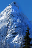 McClellan Butte Snow Mountain Peak, Snoqualme Pass Washington Royalty Free Stock Images