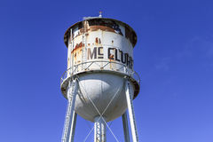McClure Water Tower. McClure, Ohio, USA - September 27, 2015: The McClure Water Tower  in Henry County, Ohio, USA Royalty Free Stock Image