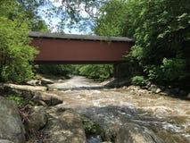 McConnell磨房被遮盖的桥 免版税库存照片