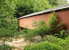 McConnells Mill Covered Bridge. The McConnell's Mill Covered Bridge was built in 1874. It is a Howe truss bridge. One of two covered bridges in Lawrence County Stock Photography