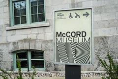 McCord博物馆 库存照片