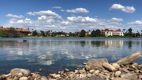 McCormick Ranch in Scottsdale, Arizona, which is one of the largest planned communities in Arizona. McCormick Ranch Lake in Scottsdale, Arizona, which is one of stock video footage