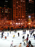 McCormick Tribune Ice Rink in Chicago Royalty Free Stock Photos