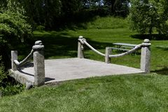 A McCourtie Park Bridge. This is a Summer picture of one of the 17 concrete bridges on the former estate of W.H.L. McCourtie, now a Public park, located in royalty free stock images