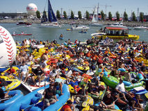 McCovey Cove by AT&T park during homerun derby Royalty Free Stock Image